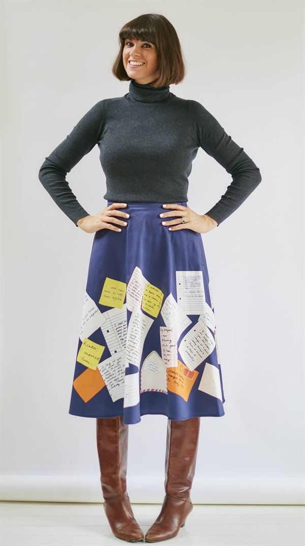The Jane - Quotes Skirt - BOB by Dawn O'Porter - Vintage Styled Skirts