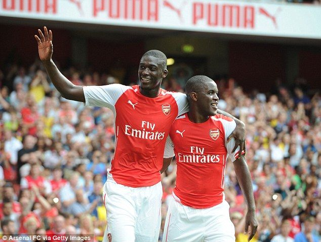 Danger duo: Joel Campbell (right) looks to have struck up a good relationhip with Sanogo...