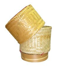 Thai Lao Food Cooking Sticky Rice Bamboo Basket  Safety For Health Size 3.0 inch