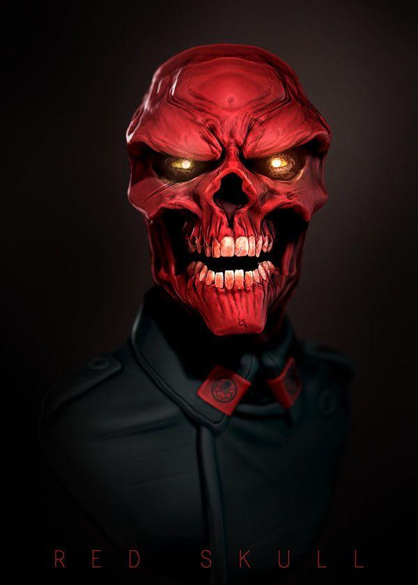 Red Skull, Lionel Cornelius Jr on ArtStation at https://www.artstation.com/artwork/lGE1a