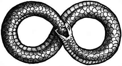 eight infinity symbol - snake - life and death - infinite circle