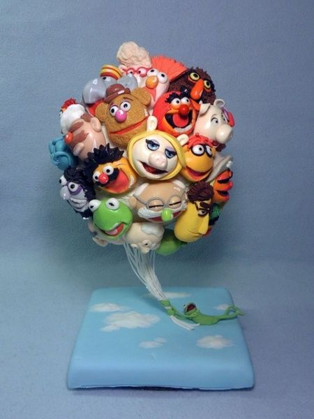 Genial!!!: Defying Cakes, Muppets Cakes, Defying Gravity, Balloon Cakes, Cakes Decor, Creative Cakes, Cakes Design, The Muppets, Amazing Cakes Ideas