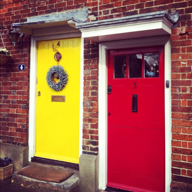 Farnham, Surrey UK-cute little doors that step right out onto the cobble streets - use to work in Farnham.