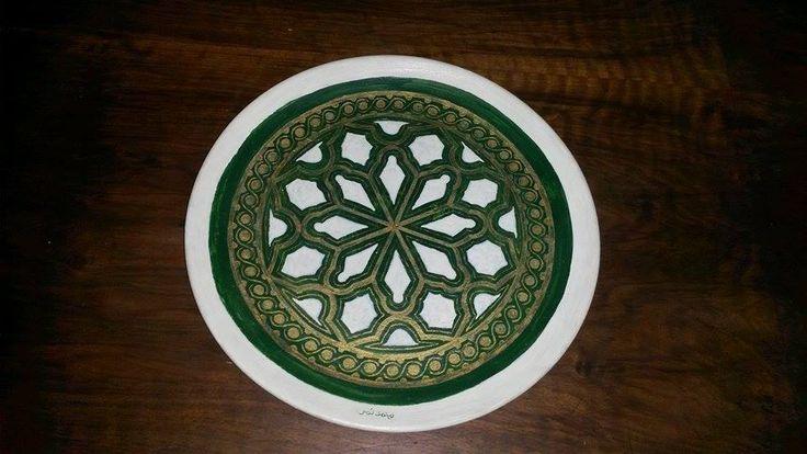 Ceramic Art | https://www.facebook.com/ZakharefArts | #Islamic #pattern