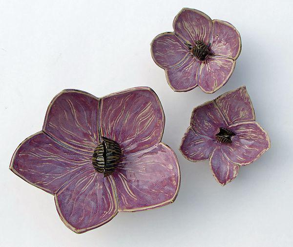 Three Orchids: Amy Meya: Ceramic Wall Art | Artful Home