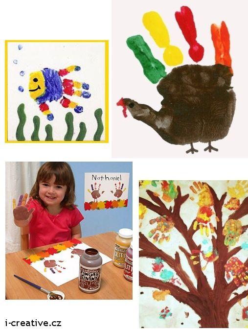 Tvoření s dětmi - otisky rukou   i-creative.cz - omalovánky k vytisknutí a výtvarné nápady