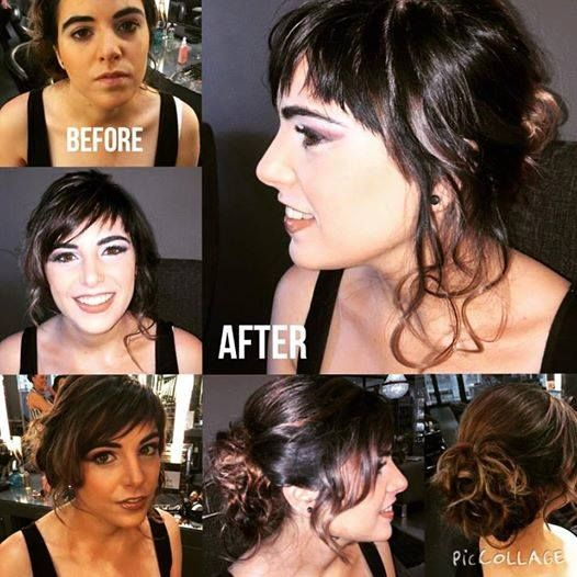 Midori client makeover for a wedding!! Beautiful Upstyle by Stacey & makeup by Anisha at Midori.