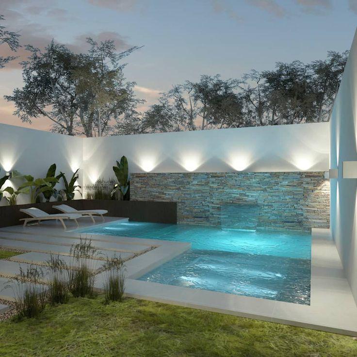 Dise o de patios peque os con piscina piletas de estilo - Patios con piscina ...