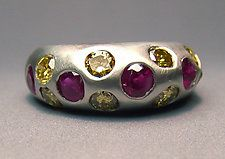 Ruby and Yellow Diamond Band by Eva Seid (Gold & Stone Ring)