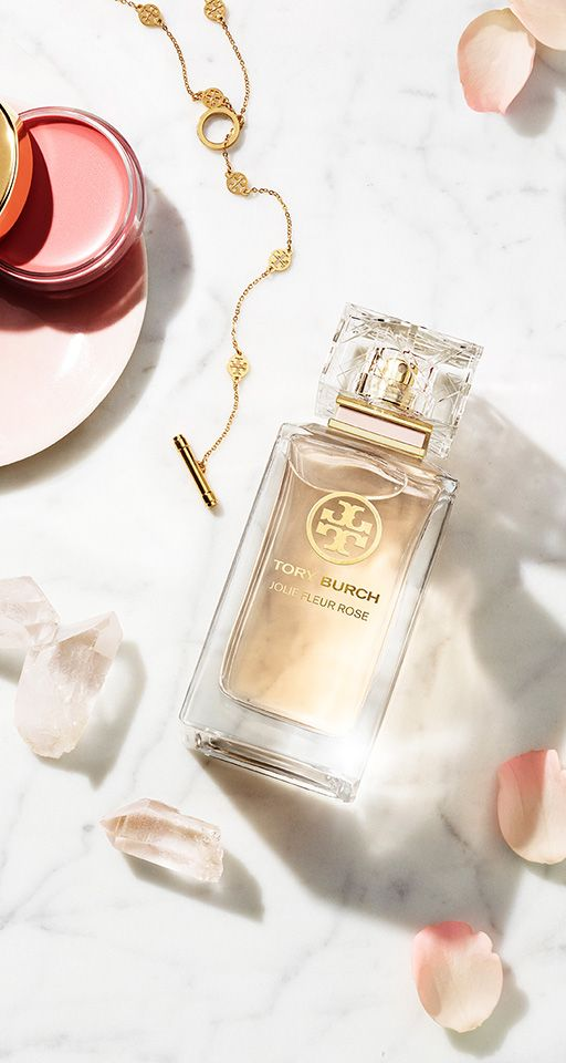 For Mother's Day: Jolie Fleur Rose captures the soft blush color and aroma of roses in Tory Burch's garden.