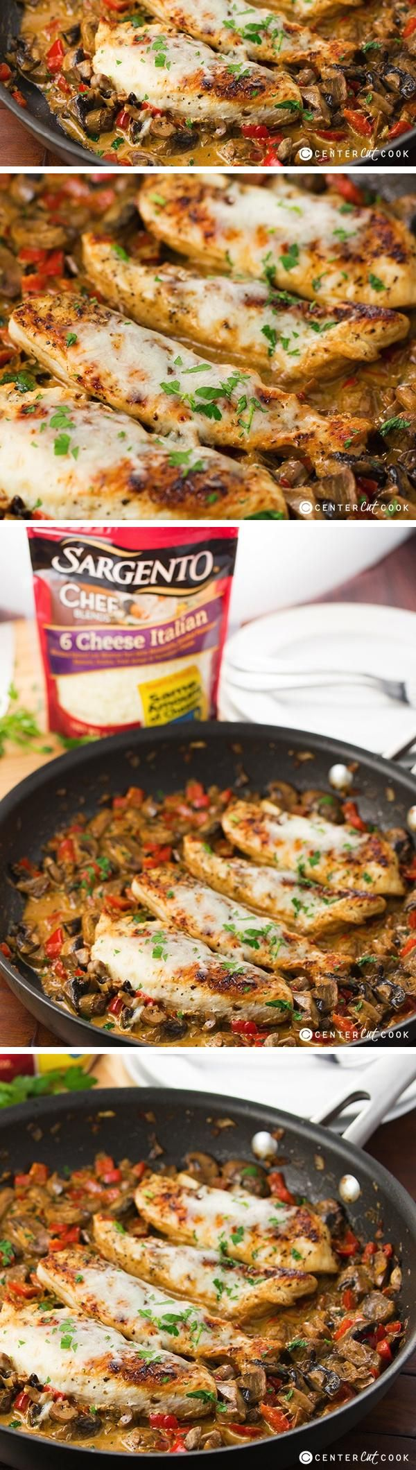 This CHEESY ITALIAN CHICKEN is made entirely in ONE SKILLET for a quick and easy weeknight dinner that requires minimum effort to make and clean up. If you're looking for a great chicken recipe to try with your family, look no further.