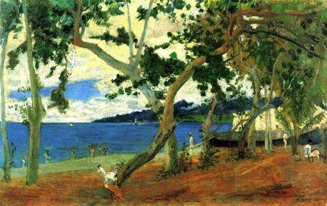 Paul Gauguin, The beach on ArtStack #paul-gauguin #art