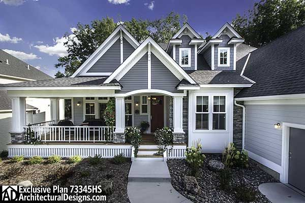 25 best first story ideas on pinterest for Craftsman house plans one story with basement