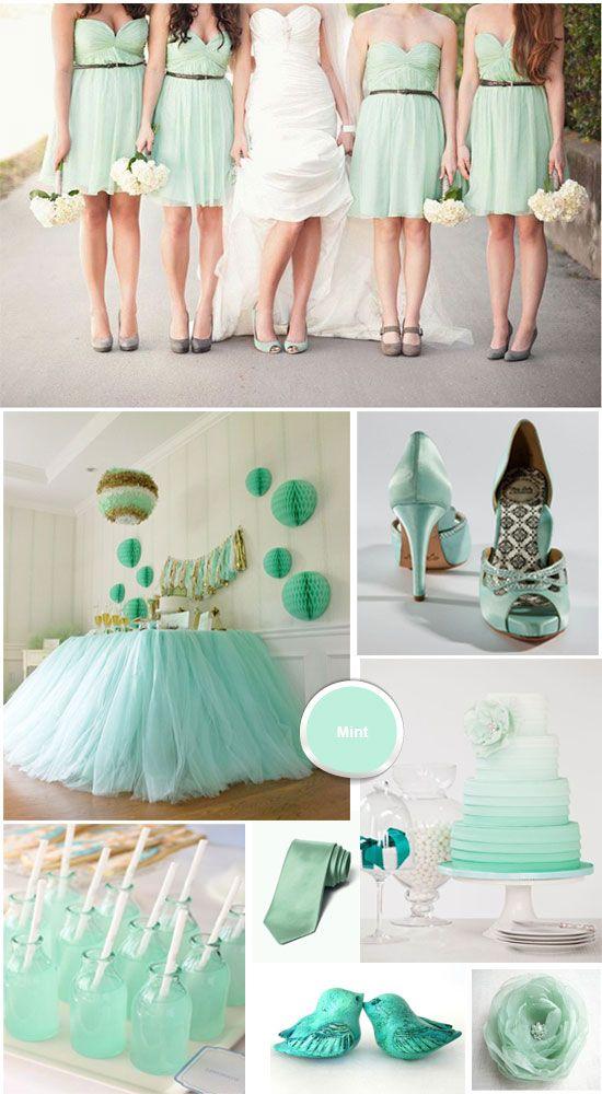 Mint Green & Ivory Wedding Colour Theme