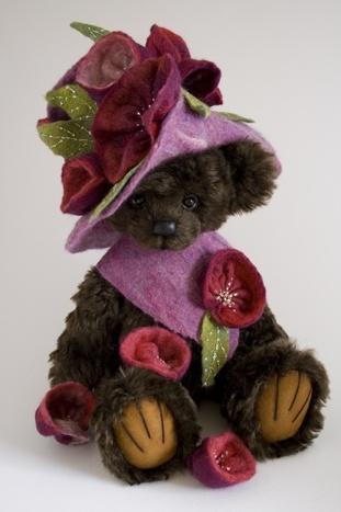 Embroidered,Teddy Bear By Melanie Jayne.