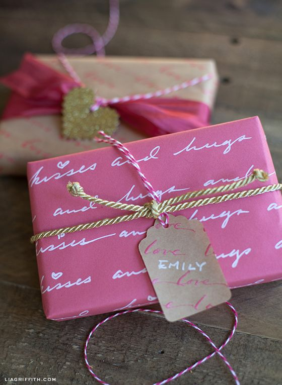 522 best lia griffith gift wrapping images on pinterest gift diy personalized love letter gift wrap negle Images
