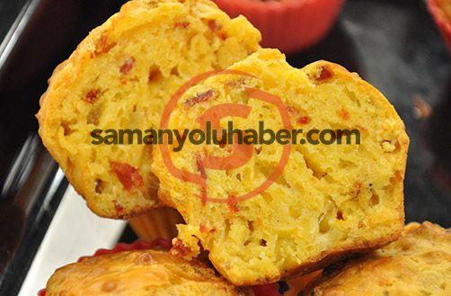 Pastırmalı Kuru Domatesli Muffin