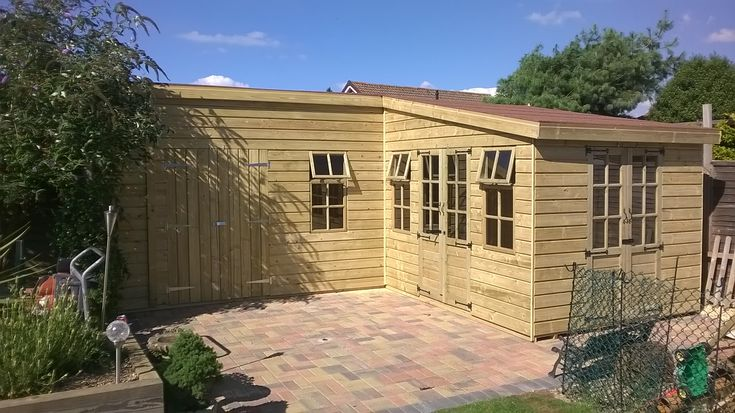 Tanalised L Shape Shed She D N Garden In 2019 Summer