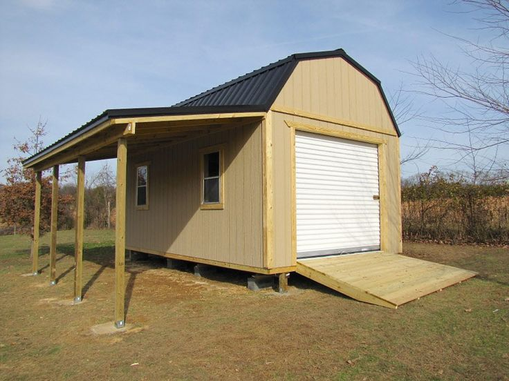 lean to shed against metal building - Google Search