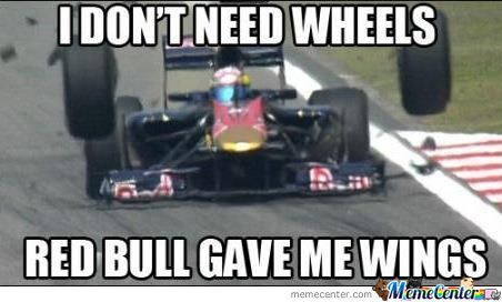 Formula 1 - Red Bull Renault Team - I do not need wheels, Red Bull gave me wings