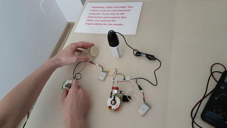 small generator 230 V lighting MR 16 bulb and 7 w led bulb 230 V