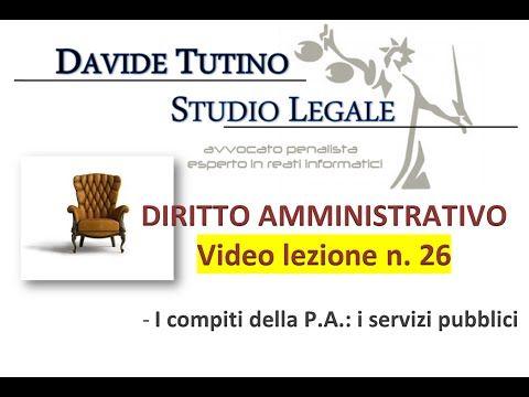 Diritto Amministrativo Video lezione n.26 : I compiti della P.A.: i serv...