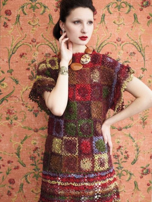 23 - Butterfly Sleeve Dress from Noro Magazine #02 (Spring 2013), but do in #s 272 and 252 at KnittingFever.com