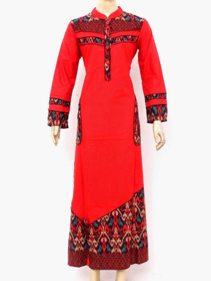Grosir Gamis Muslim | Busana Gamis Muslim | Gamis Muslim Online: Gamis Kombinasi Batik