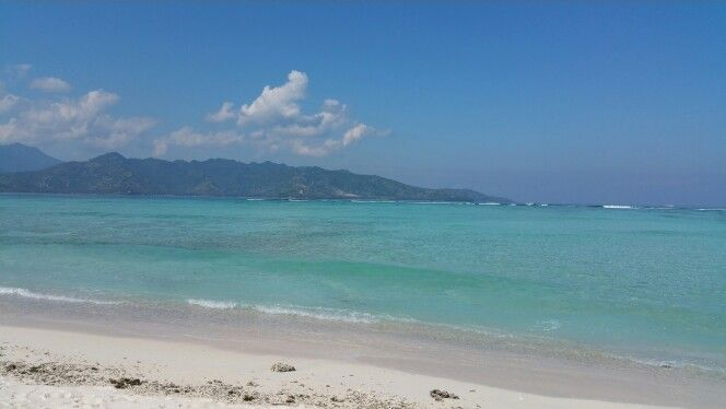 Gili Air, west side of the island with view to Lombok