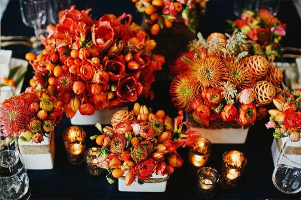 Herbstdeko OrangeWeiß  Hochzeitstafel  Pinterest  Hochzeit