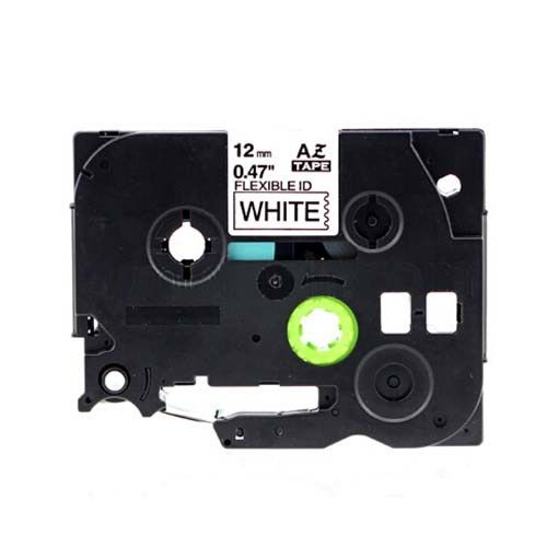"""Brother TZe-FX231 12mm (0.5"""") Black on White Compatible Label Tape"""