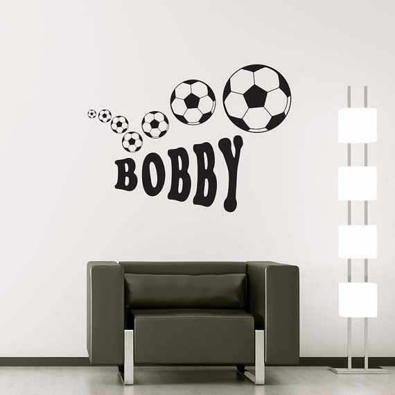 Personalised Football - Wall Sticker Decal Vinyl Transfer Children's Nursery Name Decoration Boy's on Etsy, $16.89