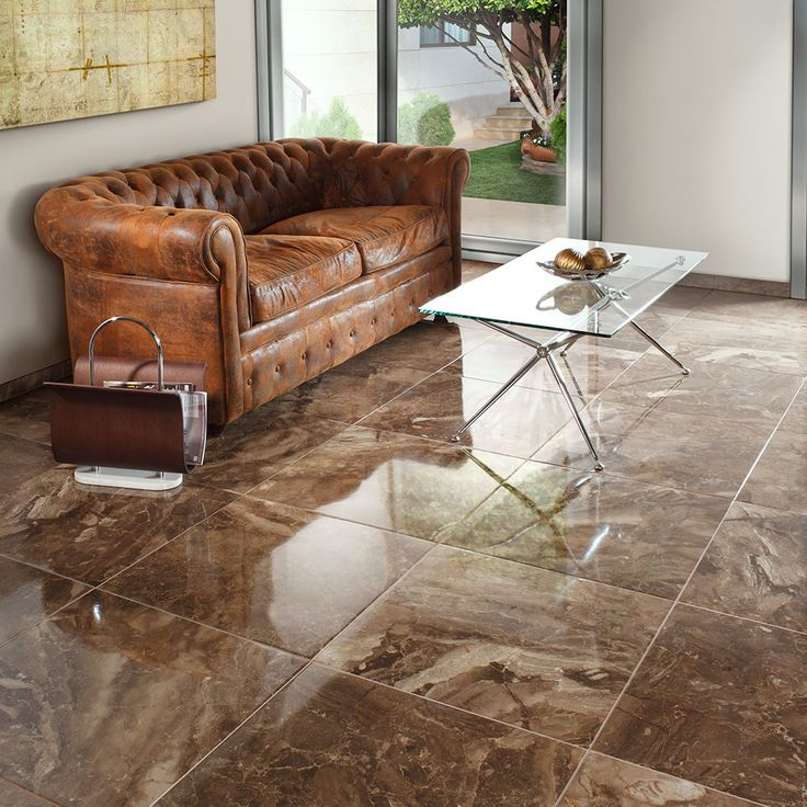 Crystalline Effect Polished Porcelain Tiles These