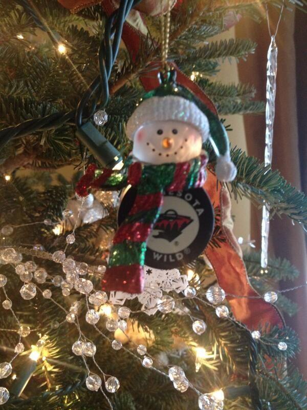 Minnesota Wild hockey Christmas ornament
