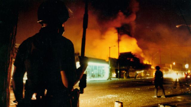 The tactics used by police in the crucial hours when the rioting began on April 29, 1992 are considered a major factor why the city burned for three days.
