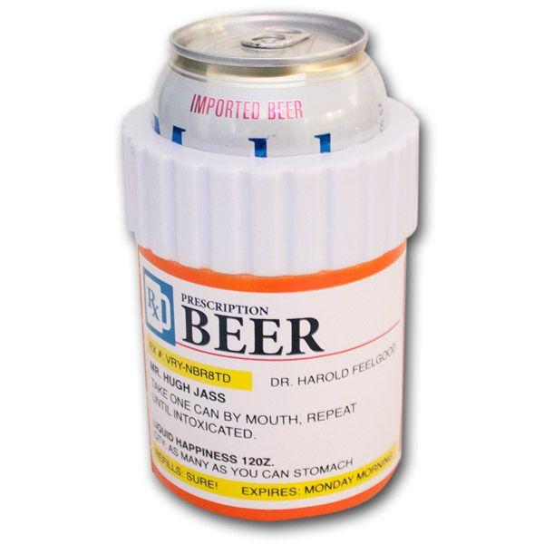 Prescription Bottle Can Koozie - jake's b day: Pills Bottle, Awesome Beer, Prescription Bottle, Beer Drinker, Bottle Beer, Beer Koozie, Coolers Koozie, Bottle Novelty, Beer Cans