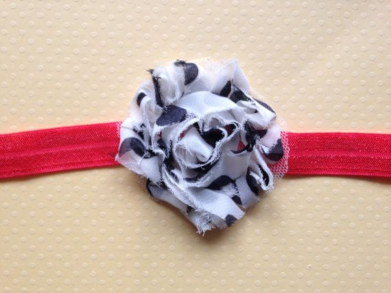 Toddler Little Miss Hot Dot Headband by BooLouBaby on Etsy