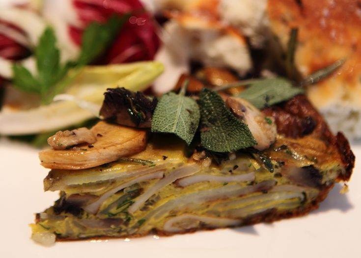 sage, mushroom and potato tortilla | #vegetarian #recipe #foodwise