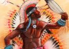 Indian  country art Plains Fancy Dancer,' c. 1992 (detail) Read more at http://indiancountrytodaymedianetwork.com/gallery/photo/11-little-seen-drawings-modernist-apache-sculptor-allan-houser-153525