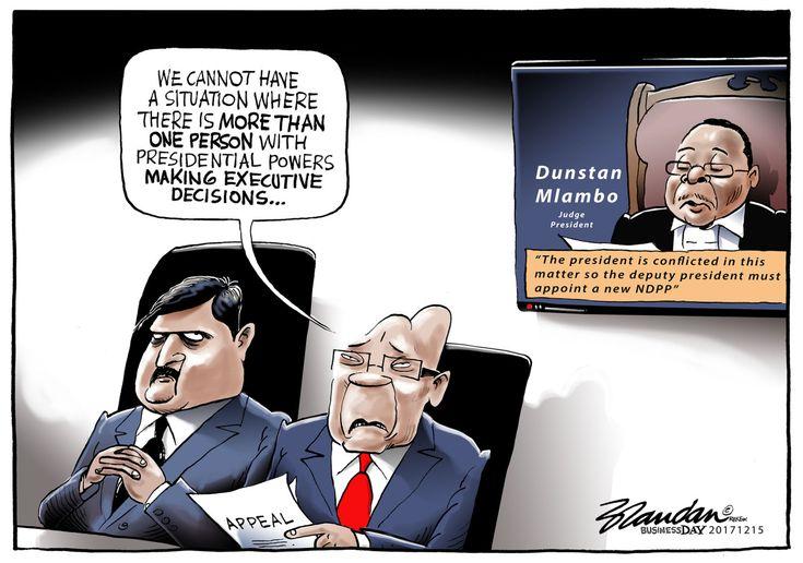 20171215bdPresidentialPowers - The president appeals the recent Gauteng High Court judgement…