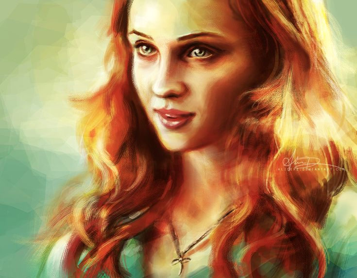 Sansa Stark, ginger heroine from Game of Thrones. She might grow up to be a power in her own right. - Anastasia