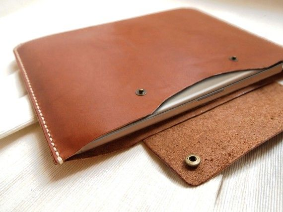 Personalized 13 Macbook Pro / Macbook Air Case Leather by HarLex