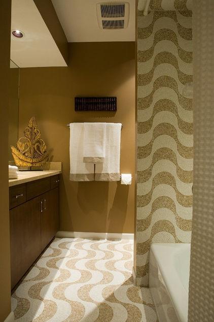 Contemporary Bathroom By Nora Schneider Interior Design Glamorous Masculine Tiles