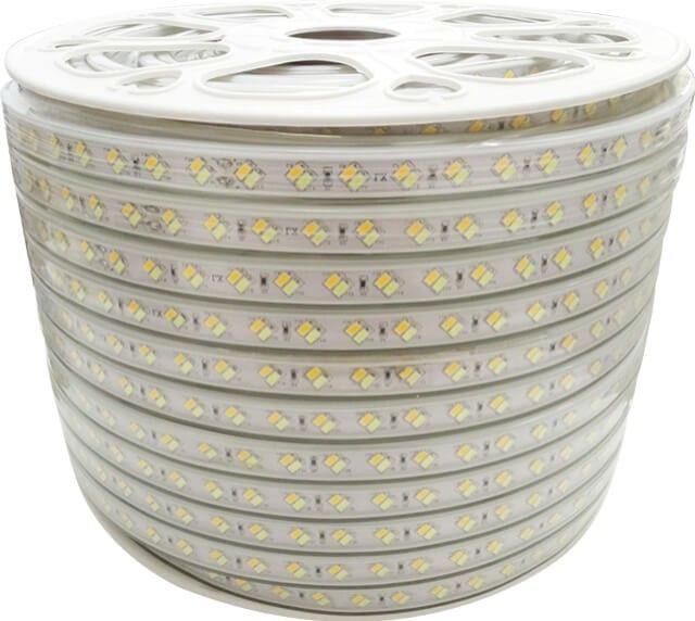 BANDA LED 120x5730 14W 3IN1 220V cu 120LED-uri 5730/m va da posibilitatea sa alegeti lumina preferata, alb cald, alb rece sau alb natural si la un consum mic (14W/metru). Este utila in orice proiect, rezidential sau comercial.