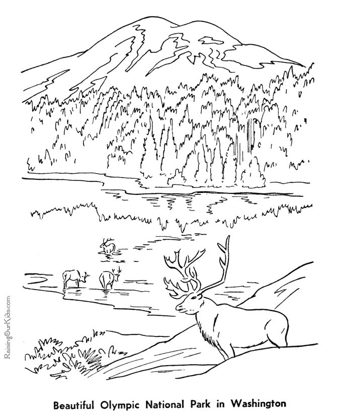 historic places olympic national park coloring page