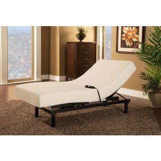 $1,000 Sleep Zone Loft Single Motor Adjustable Bed with Twin XL-size Visco Memory Foam Mattress