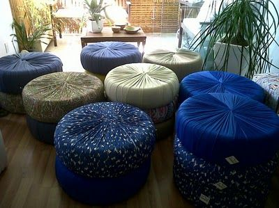 pretty, covered up recycled tires. Wonder how comfortable they are?
