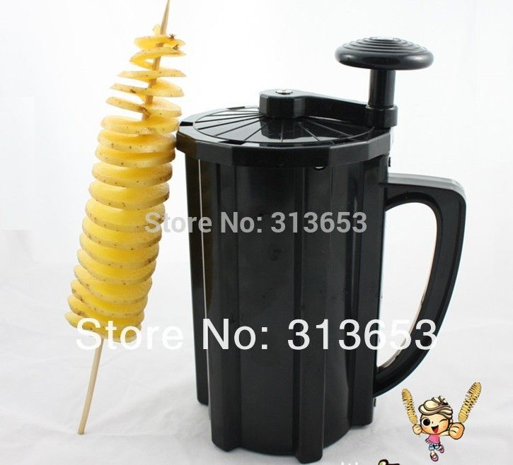 2016 twist Tornado potato machine, spiral  potato chipper,potato cutter machine /potato chips machine with one more blade