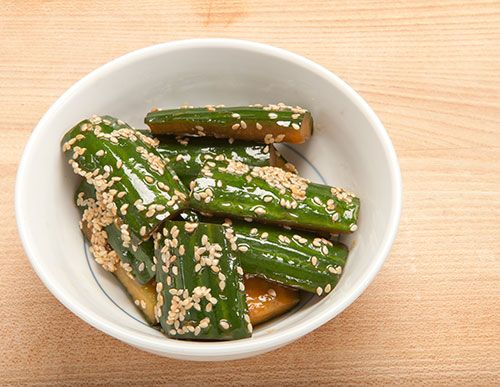 Japanese-style cucumber salad with a very versatile sesame dressing #recipe