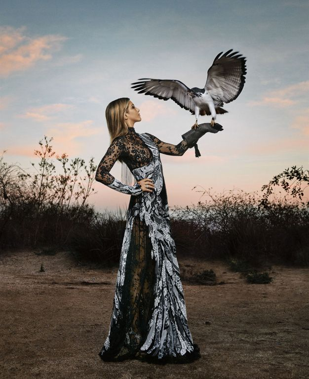 Jennifer Aniston - Harper's Bazaar - bird